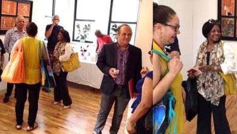 Dominicanos en NY asisten a apertura individual del artista plástico Persio Checo
