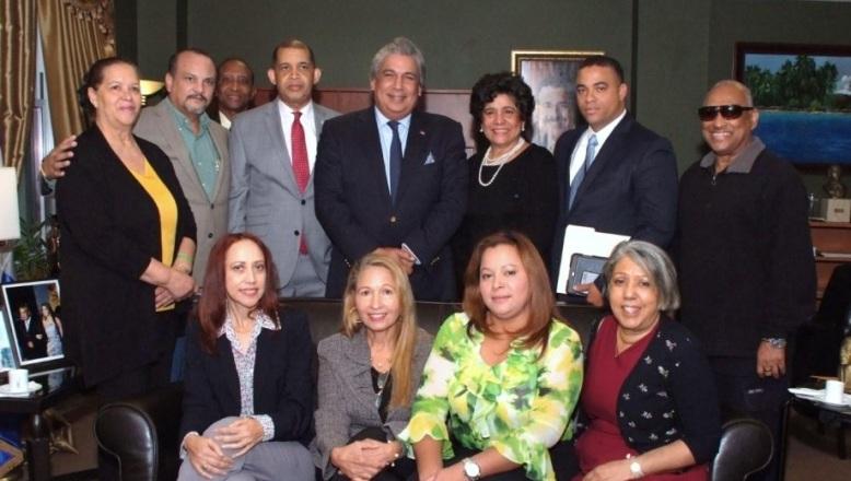 Directivos de Fundación Profesor Juan Bosch USA giran visita al Cónsul Dominicano