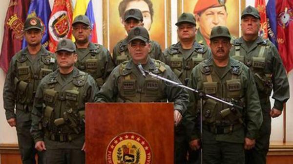 Fuerzas Amardas de Venezuela declara lealtad a Nicolas Maduro