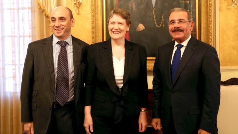 Danilo Medina recibe a la administradora Programa Naciones Unidas para el Desarrollo