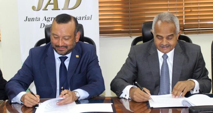 Junta Agroempresarial Dominicana y el Instituto Interamericano de Cooperación para la Agricultura firman acuerdo