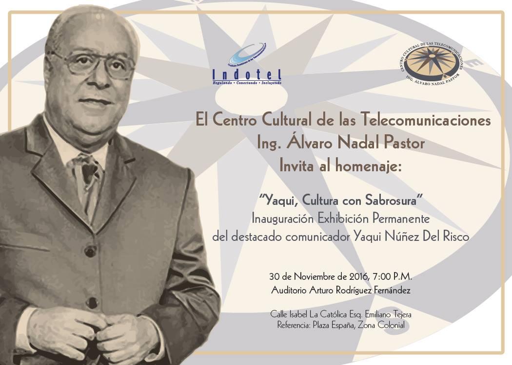 CCT del Indotel hará homenaje al maestro Yaqui Núñez del Risco