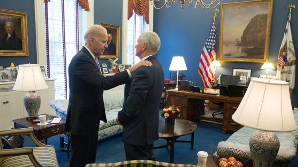 Joe Biden y Mike Pence se reune para asegurar transición de mando