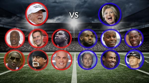 Team Trump vs. Team Clinton qué figuras del deporte apoyan a cada candidato