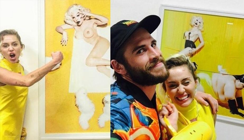 Miley Cyrus y Liam Hemsworth visitaron una galería de arte y esto sucedió