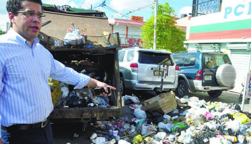 Alcalde arrancó ayer con mano dura contra la basura en zona Norte del DN
