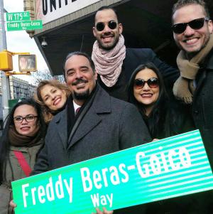Freddy Beras Goico queda inmortalizado con calle en Nueva York; destacan legado