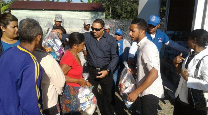 Realizan operativo de entrega de ayudas material y comestible a favor de damnificados zonas apartadas de Altamira