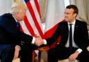 El estrechísimo saludo de Trump y Macron