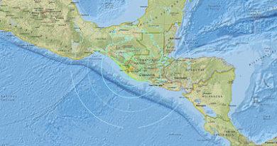 Se produce un terremoto de magnitud 6,9 cerca de las costas de México y Guatemala
