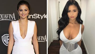 Selena Gomez su doble hot muestra absolutamente todo en Instagram con este escote