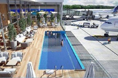 Nuevo salón VIP del Aeropuerto de Punta Cana tendrá piscina con vista a la pista de aterrizaje