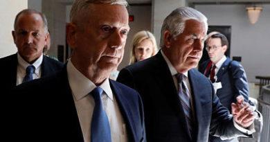 Mattis y Tillerson piden al Senado que las operaciones militares de EE.UU. no sean limitadas