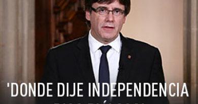 Puigdemont firma la declaración de independencia pero la deja en suspenso