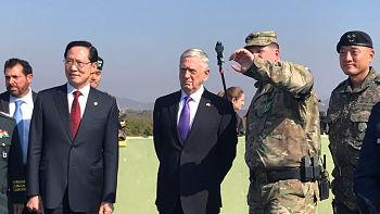 En medio de las tensiones: Mattis visita la Zona desmilitarizada de Corea