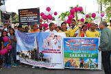 Organizaciones comunitarias y fundaciones SDN  realizan caminata por paz y la no violencia contra la mujer