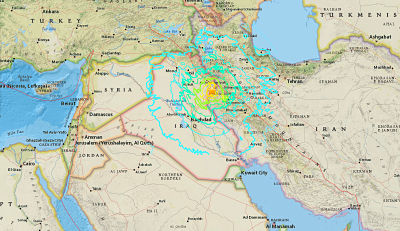 FATAL:211 muertos y 2.500 heridos tras un sismo de 7,2 entre Irán e Irak