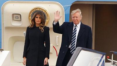 Trump llega a China en su primera visita oficial