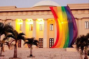 Ministerio de Cultura investiga quién puso bandera GLBT en Palacio Bellas Artes