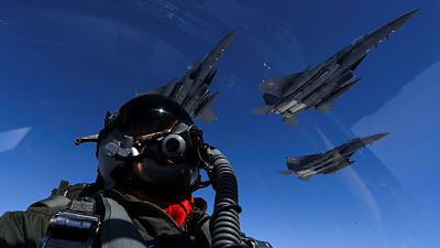 """Arrancan los ejercicios aéreos """"masivos"""" de Corea del Sur y EE.UU."""