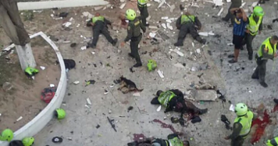 tentado terrorista en Colombia: sube a 5 la cifra de policías muertos