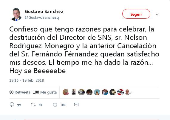 Vocero Cámara Diputados Celebra Destitución Director SNS.