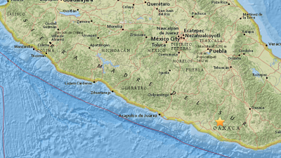 Otra intensa réplica del sismo de 7,2 sacude el sur de México