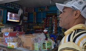 En barrios del DN pocas personas sintonizaron el discurso