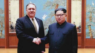 "Pompeo: ""Kim Jong-un está preparado para ayudarnos a lograr la desnuclearización"