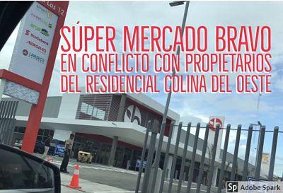 Vecinos de Colinas del Oeste denuncian al Supermercados Bravo por apertura de acceso ilegal