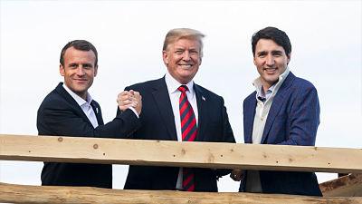 """""""Malas fotos"""": Trump responde a los """"medios falsos"""" con imágenes sonrientes con otros líderes del G7"""