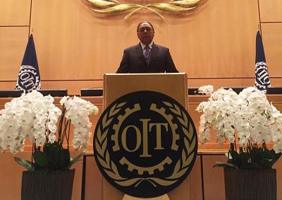 Copardom clama en OIT por empresas sostenibles y trabajo formal
