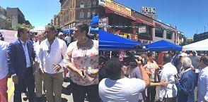 Inauguran feria vendedores ambulantes en Alto Manhattan
