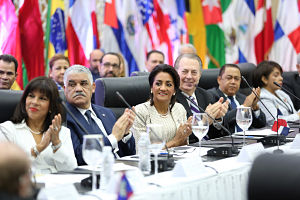 Primera Dama motiva representantes del cuerpo diplomático a promover en sus países Torneo Invitacional Mundial de Tenis