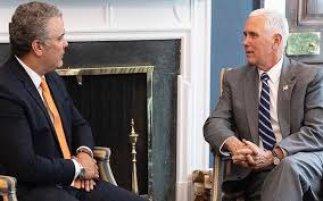 Iván Duque acordó con Mike Pence seguir presionando a la dictadura de Nicolás Maduro
