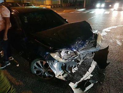 Milagros Germán sale ilesa de accidente de tránsito ocurrido anoche en la Winston Churchill