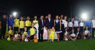 Inauguraron anoche por lo alto Academia de Fútbol Santa Fe