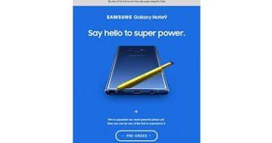 Galaxy Note 9, Samsung filtra el diseño de su gama alta de 2018