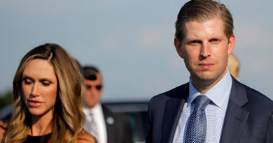 """""""Recibimos polvo blanco por correo"""": Eric Trump denuncia amenazas contra su familia"""