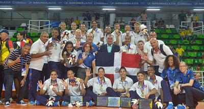 Voleibol recibe 3.3 millones de pesos por su oro de Barranquilla
