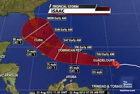Isaac se degrada a depresión tropical, pero provocará aguaceros desde esta tarde