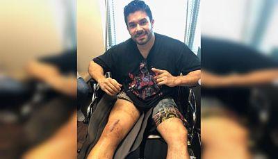 Así quedó Jerry Rivera tras cirugía por aparatosa caída en concierto en Ecuador