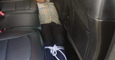 Policía determina que fue auto robo caso de hombre encontrado amarrado dentro de vehículo