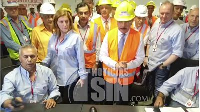 Presidente Medina realiza primer encendido caldera Punta Catalina