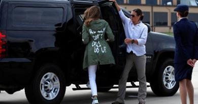 Melania Trump explica por qué vistió la escandalosa chaqueta con la frase 'realmente no me importa'