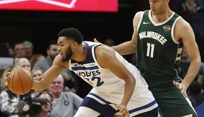 Towns anotó 16 puntos en la derrota de los Wolves ante los Bucks