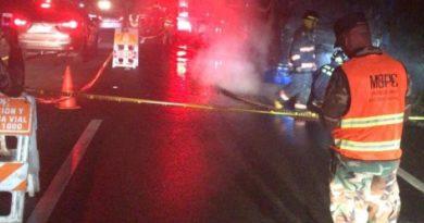 Se incendia autobús próximo a Boca Chica; pasajeros resultan ilesos