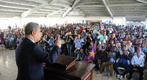 Leonel dio grito de guerra en Cotuí y radicaliza discurso