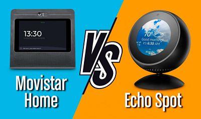 Echo Spot vs Movistar Home, comparativa de características, funciones y precio