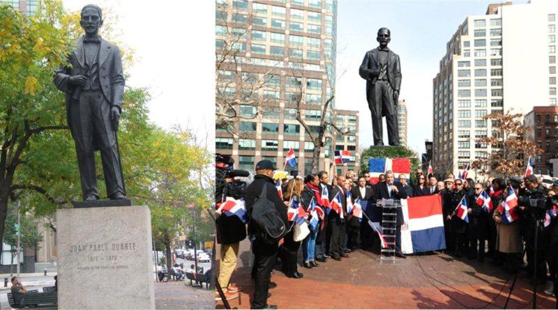 Dominicanos vuelven a reclamar que estatua de Duarte sea erigida en el Alto Manhattan y sacada del Barrio Chino